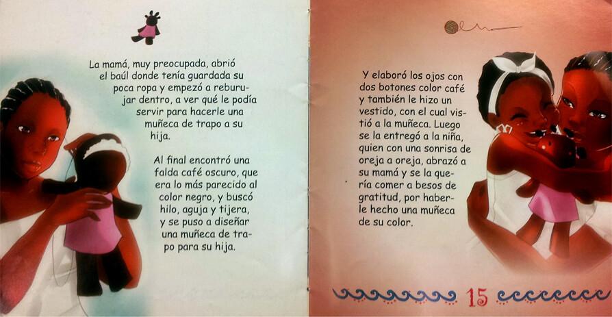 Los libros de esta autora tienen ilustraciones para que los niños afrocolombianos se vean, se identifiquen y se reconozcan.