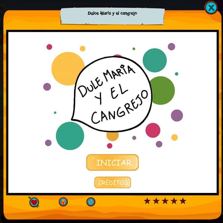 Cuentos interactivos: Dulce María y el cangrejo