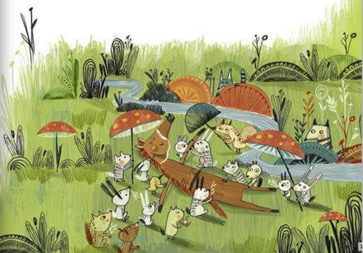 Ilustración del cuento Los caballos que no querían amo.