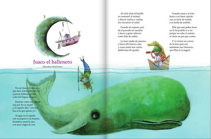 Ilustración del cuento Juaco el Ballenero.