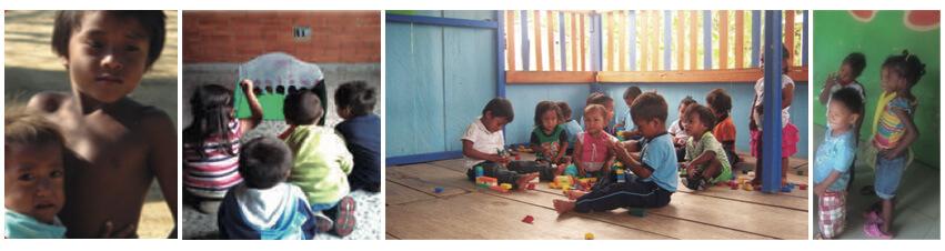 Niños Wayúu, Muiscas, Ingas y Afro.