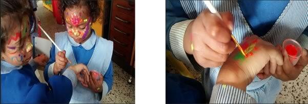Fotografías: Experiencia pedagógica de la maestra Ruth Albarracín Barreto, niñas y niños de primera infancia del Colegio Agustín Fernández Sede B.