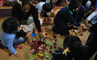Vivir las artes plásticas con los niños con los 4 elementos de la Naturaleza