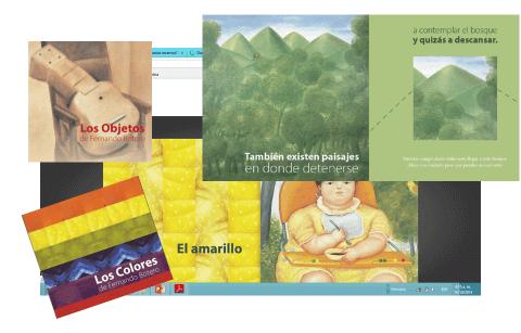 Prototipos de materiales didácticos para primera infancia a partir de la obra de Fernando Botero. Colectivo Escafandra, 2012.
