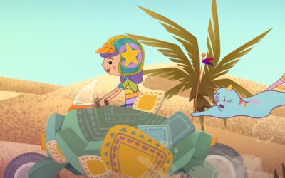 Niños y niñas: ¡A volar en la nave mágica de Juani & Gatón!