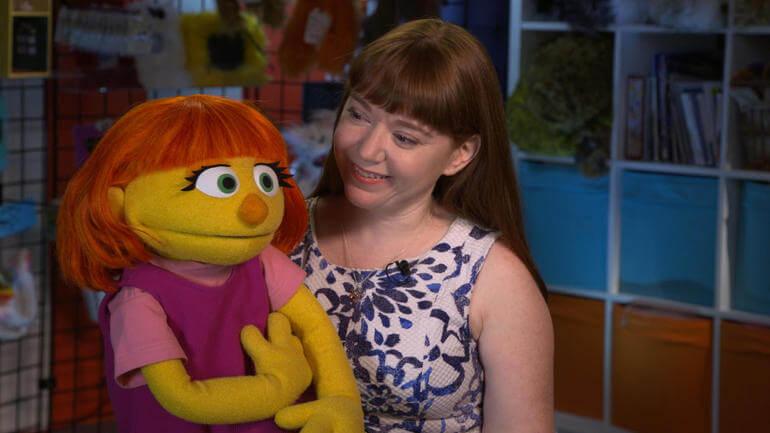 Julia, personaje autista Plaza Sésamo