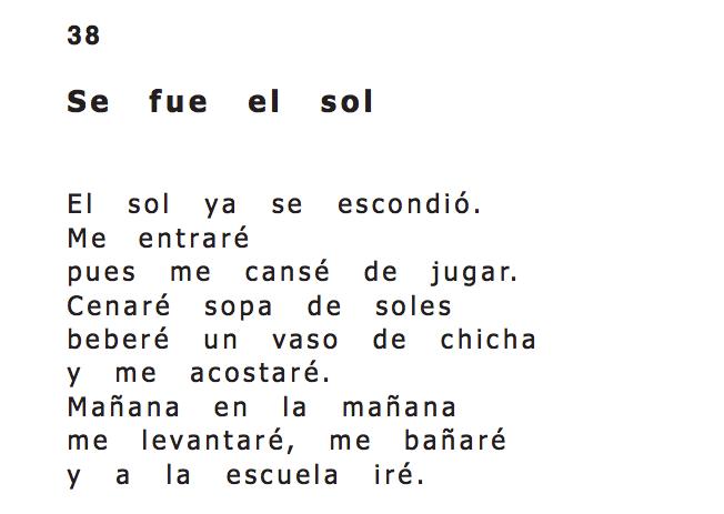 Relato indígena - arrullo Kamëntsá en el libro Sopa de Soles, en braille.