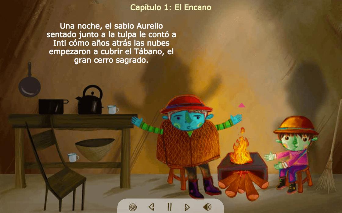 Libro infantil digital interactivo para leer gratis en línea, El llamado de Inti