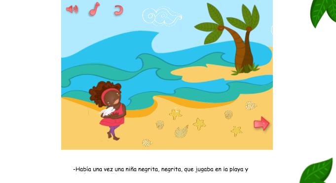 Aplicaciones interactivas para niños gratis en internet, contenidos afro
