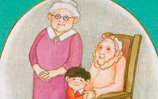 La abuelita de arriba y la abuelita de abajo