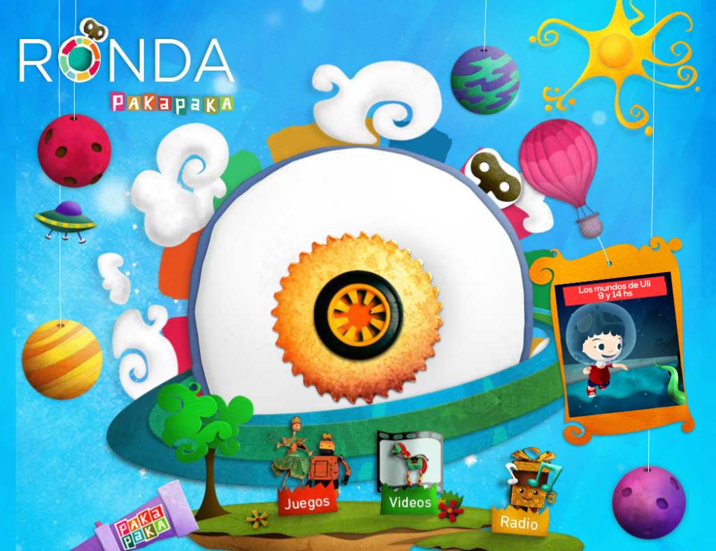 Ronda Pakapaka es una página web creada por el canal argentino Pakapaka para los niños entre 2 y 5 años.