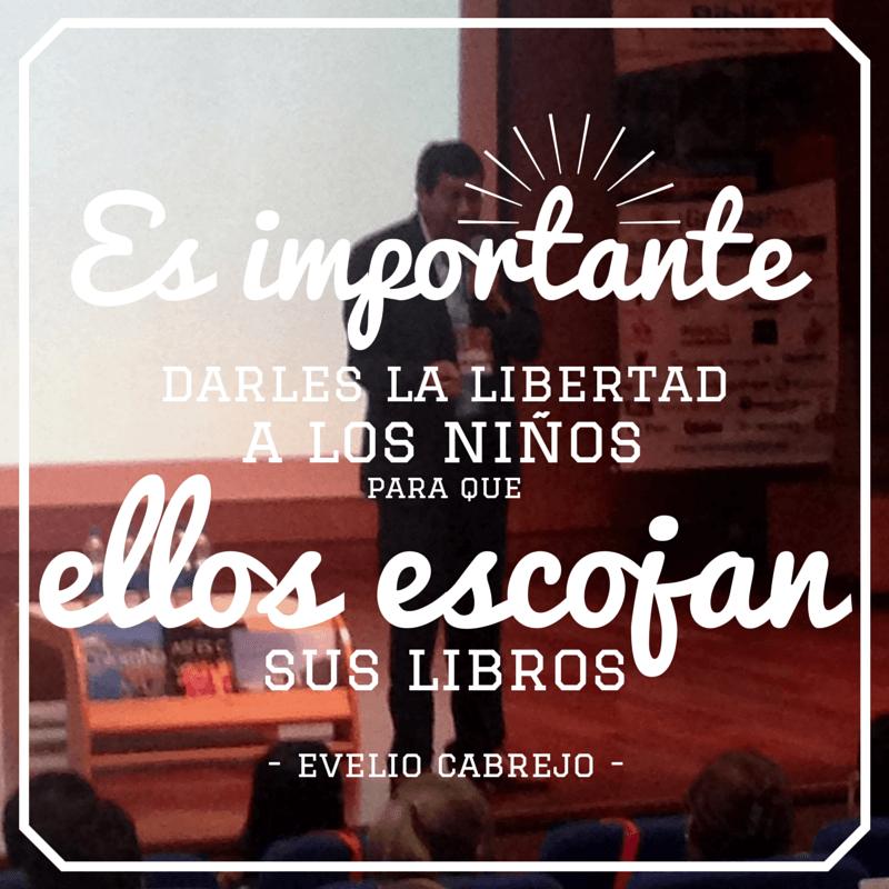 """""""Es importante darles la libertad a los niños para que ellos escojan sus libros"""": Evelio Cabrejo."""