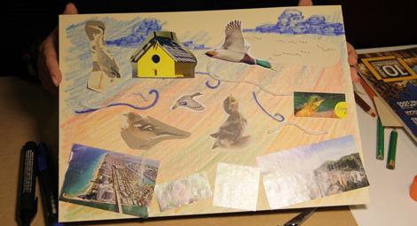 ¿Cómo hacer un paisaje en collage?