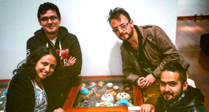 Equipo de Animaedro estudio de animación, en la versión 2015 de Colombia 3.0.