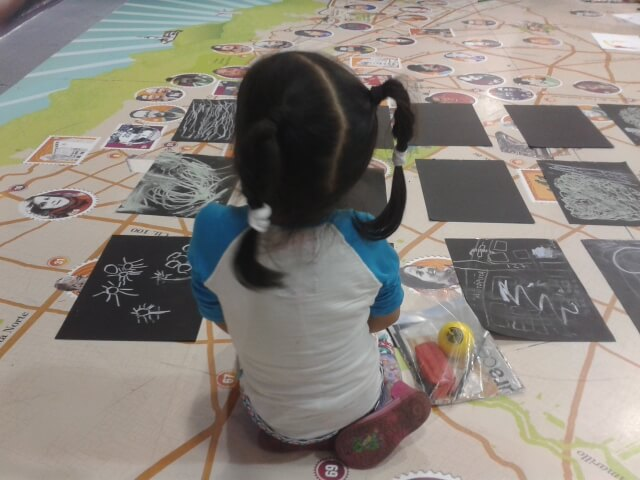 Taller de cartografía a partir de la colección de mapas y planos del Museo de Bogotá. Feria Internacional del Libro de Bogotá, 2015.
