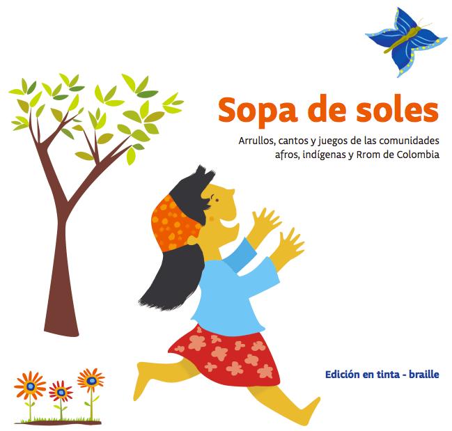 Carátula Sopa de soles, libro braille para niños con enfoque en diversidad e inclusión