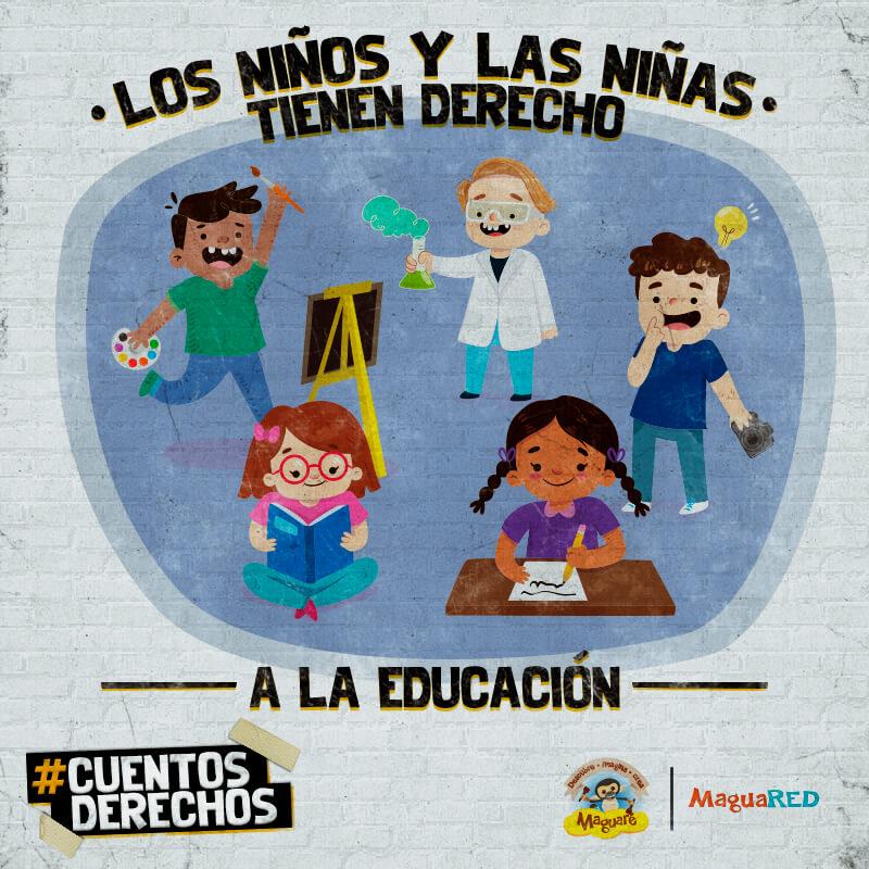 Derechos de los niños y niñas, derecho a la educación, cuentos