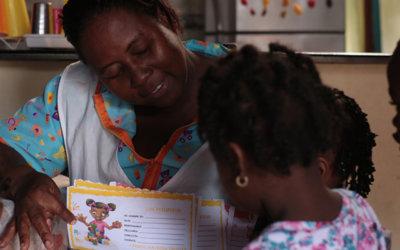 El hogar de una madre comunitaria