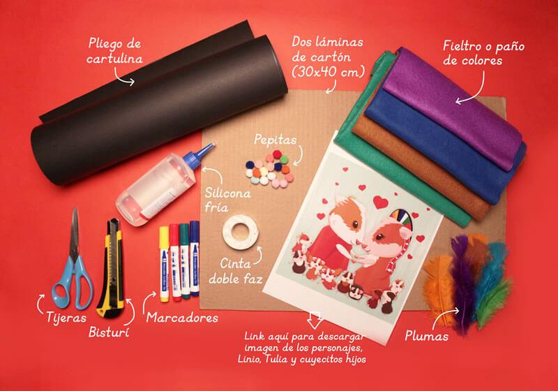 Materiales - Tutorial Rosalinda la Camaleona