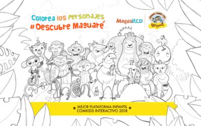 ¡Colorea los personajes y #DescubreMaguaré!