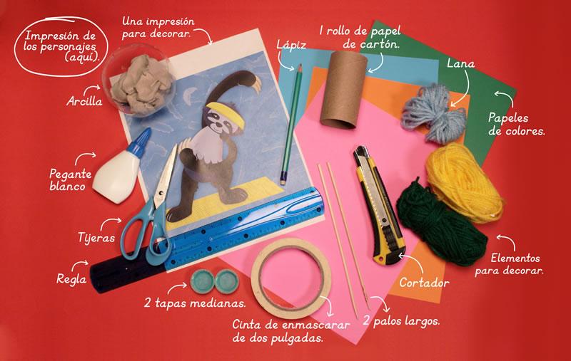Materiales - ¿Cómo hacer una marioneta de hilos?